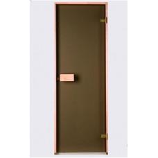 Врата стъклена за сауна Classic 790x1990 мм, бронзе