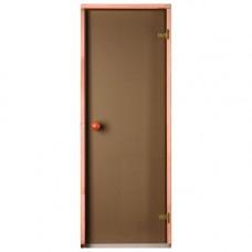 Врата стъклена за сауна Trendline 990x1990мм бронзе