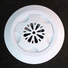 Дюза за бетон вливна Ф45 за съосно лепене в тръба Ф50 х 2.4 мм, отвор цвете, бял ABS