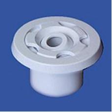 Дюза за бетон вливна Ф57 за съосно лепене в тръба Ф63 х 3 мм, бял ABS