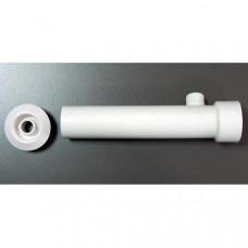 Дюза тип Вентури за лепене към тръба Ф50 мм, дължина 30 см, бял ABS