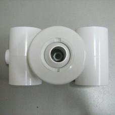 Дюза тип Вентури за лепене към тръба Ф50 мм, двустранно, бял ABS