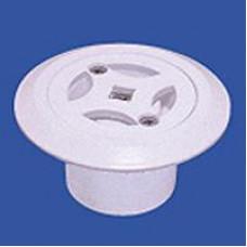 Дюза за бетон дънна Ф45 за съосно лепене в тръба Ф50 х 2.4 мм, бял ABS