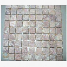 Камъчета естествени, 15х15x6 мм розово-червени