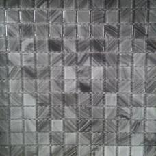 Кристална мозайка Lyrette C003, 23x23x4 mm, двуцветна в сиво