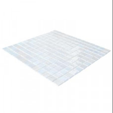 Мозайка стъклена бяла, Stoneglass Opalo Blanco  2.5x2.5 cm