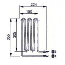 Нагревател 1.5 kW за печка  за сауна 9 kW