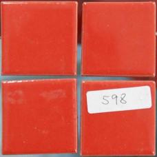 Плочки керамика червени, 45 х 45 мм, гладки