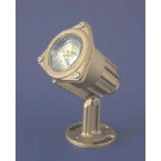 Прожектор за фонтан месинг 50W 12V в комплект с цветни лещи