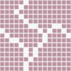 Стъклокерамичен декор Екзита лилаво с бяло