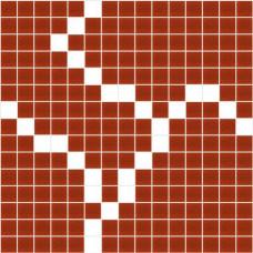Стъклокерамичен декор Екзита червено с бяло