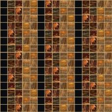 Стъклокерамичен декор Миролио кафяво райе