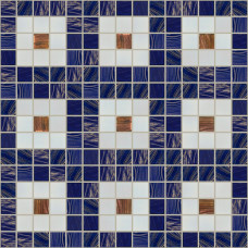 Стъклокерамичен декор Синьо каре