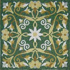 Стъклокерамична мозайка Килим с цвете, голяма
