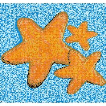 Стъклокерамично пано Морски звезди