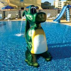 Фигура Изправен крокодил, от стъклопласт