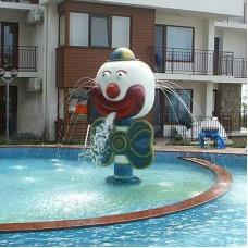 Фигура Клоун с една глава, от стъклопласт