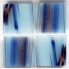 Стъклокерамика Lyrette Brilliance E729 синьо-бяла със златни нишки