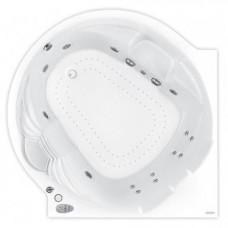 Хидромасажна вана Roma, система Titanium, бяла, хром