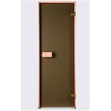 Врата стъклена за сауна Classic 790x1990мм бронзе