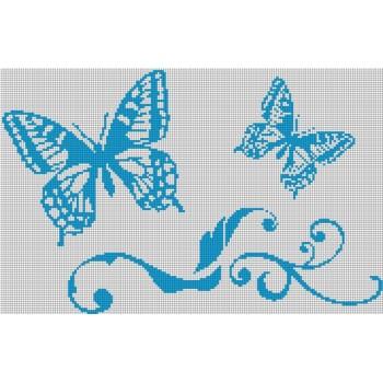 Стъклокерамично пано Пеперуди