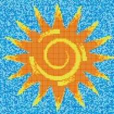 "Стъклокерамична фигура ""Слънце 97"", 319x319 cm"