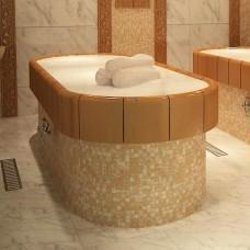 Легло масажно овално с прави стени за керамичен плот и крак с обл. стъклокерамика, с отопление и терморегулатор