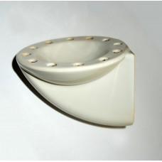 Делва за аромати със скрита дюза бяла, ръчна изработка