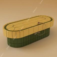 Легло масажно овално с прави стени  за керамика с отопление и терморегулатор