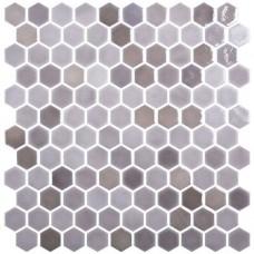 Мозайка стъклена, микс Hex Blend Taupe d31.75 mm