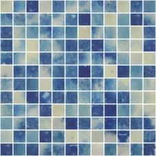 Мозайка стъклена, микс Bluestone 2.5x2.5 cm антислип