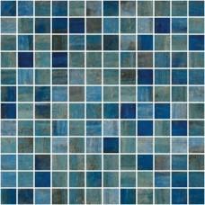 Мозайка стъклена, микс Blue Forest 2.5x2.5 cm антислип