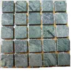 Камъчета естествени, 15х15x6 мм сиво-зелени