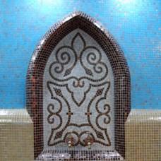 """Стъклокерамична мозайка """"Рома"""" - 66x110см. в бежово и кафяво"""