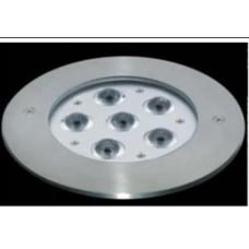 Прожектор диоден мини  LED, 6x3W 24V, RGB за вграждане
