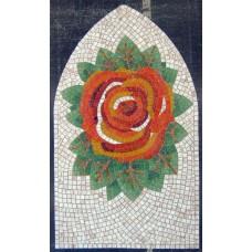 """Стъклокерамична мозайка """"Роза"""" - 110x66 cm"""