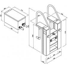 Моноблок стълба двускоростен 20/50 m³/h метален с топлообменник