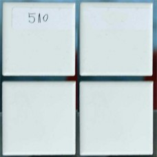 Плочки керамика бели, 45 х 45 мм, матови