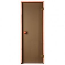 Врата стъклена за сауна Trendline 790x1990мм бронзе