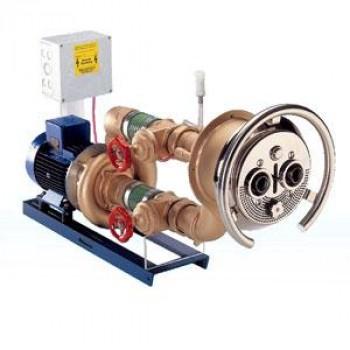 Джет хидромасажен 63 m³/h, хром, комплект, за фолио
