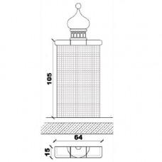 Поставка за архитектурни детайли правоъгълна