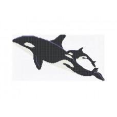 Стъклокерамична фигура whales 396х198