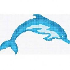 Стъклокерамична фигура делфинo 96