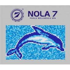 Стъклокерамична фигура делфинo 96 161х99см