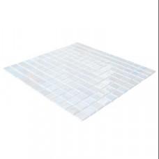 Стъклена мозайка бялa  Stoneglass Opalo Blanco  2.5x2.5