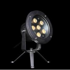 Прожектор диоден мини  LED RGB, 6x2W 24V, RGB