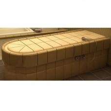 Легло масажно овално с прави стени за керамика долепено с отопление и треморегулатор