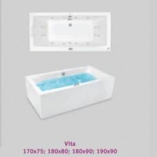 Хидромасажна вана Vita 190х90система Silver 2, бяла.