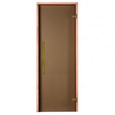 Врата стъклена за сауна Premium 790x1990мм бронзе