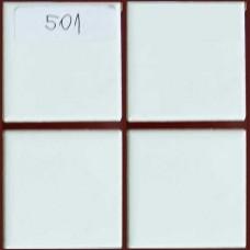 Плочки керамика бели, 45 х 45 мм, гладки